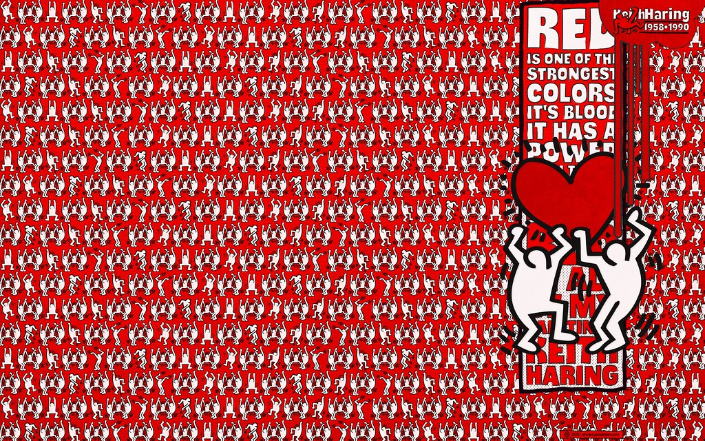 3d Effect Wallpaper For Iphone Typodermic 187 Thump 171 Keith Haring Red For Widescreen Displa