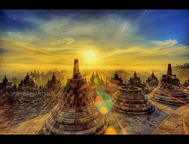 Wallpaper Sunset 3d Borobudur Sunrise View On Black Alex Hanoko Flickr