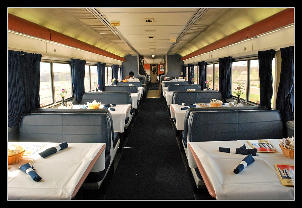 Dinner Free California Zephyr Dining Car | I Got This Shot Of The