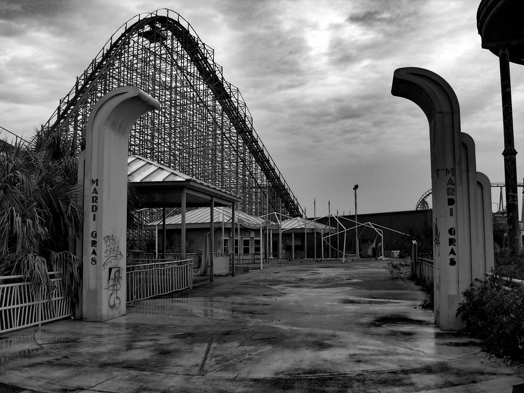 Six Flags Jazzland Abandoned Six Flags New Orleans Top Of Mega Zeph Wooden R