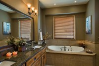 Mountain View Timber Frame Home - Bathroom | The master ...
