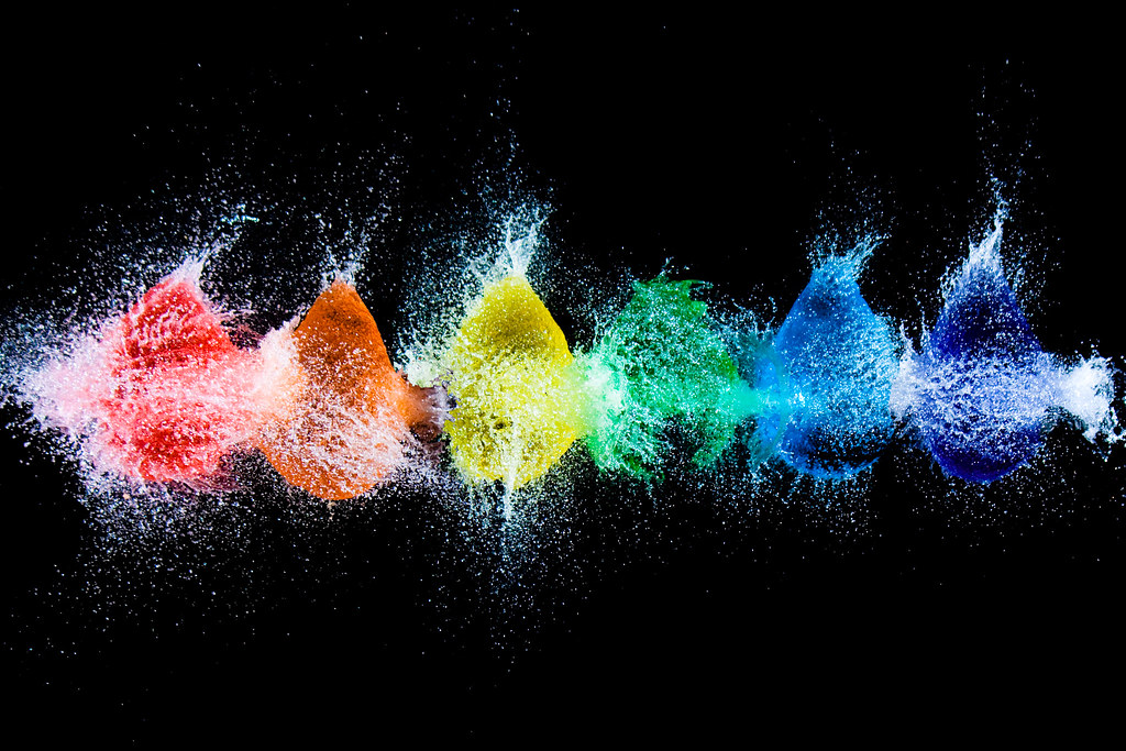 Rainbow 3d Wallpaper Rainbow Water Balloons W Is For Water Part Of My