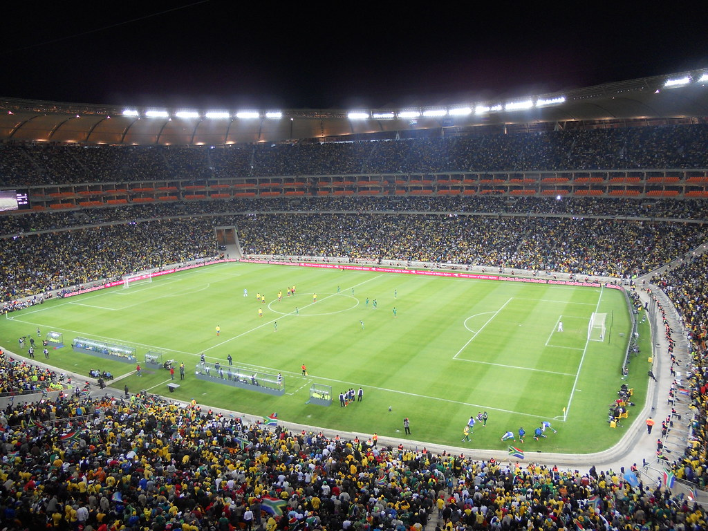 Africa 3d Pro Live Wallpaper Soccer City Stadium At Capacity 2010 World Cup Shine