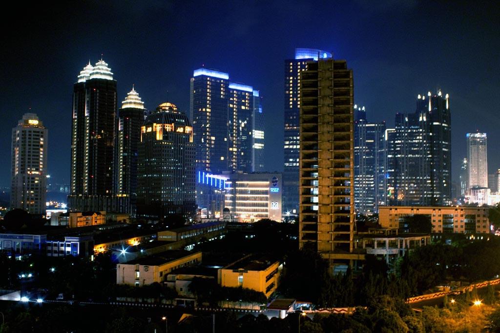 Liverpool Wallpaper 3d Jakarta Night Skyline Jakarta Night Scene Taken From The