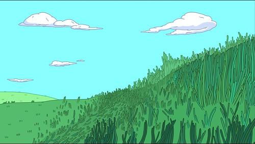 Wallpaper 3d Animado Grassy Field From Pendleton Ward S Adventure Time