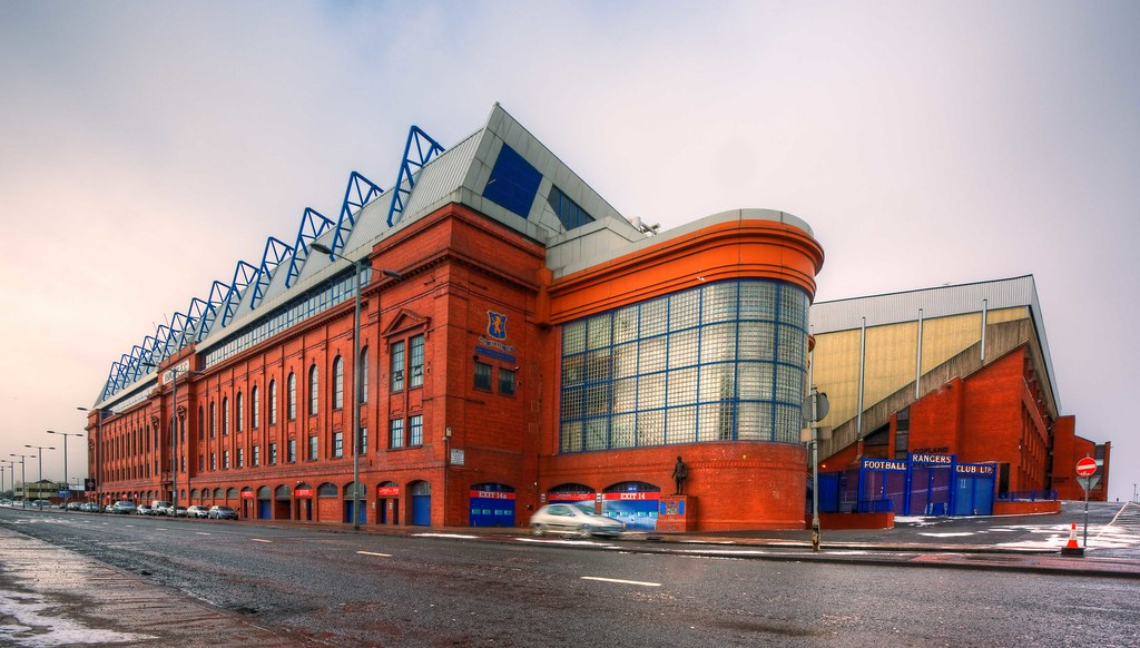 White Wave 3d Wallpaper Ibrox Stadium Home Of Rangers Fc Ibrox Park Is A