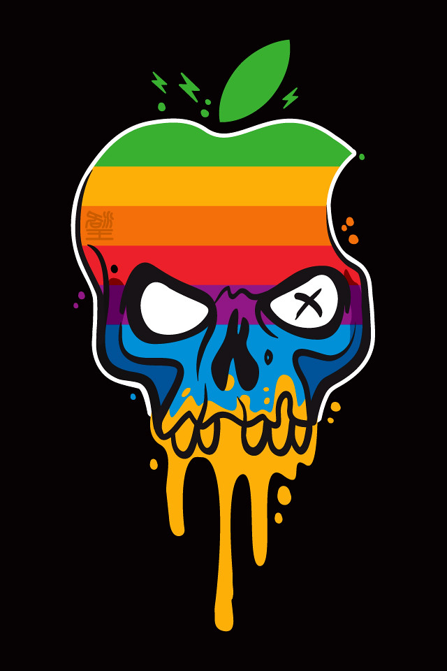 Some 3d Wallpapers Hackintosh Rainbow Drip Black Front View Hackintosh
