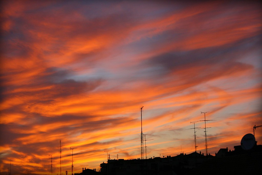 3d Orange Wallpaper Summer Afternoon Sky Madrid Spain Juan Antonio Segal