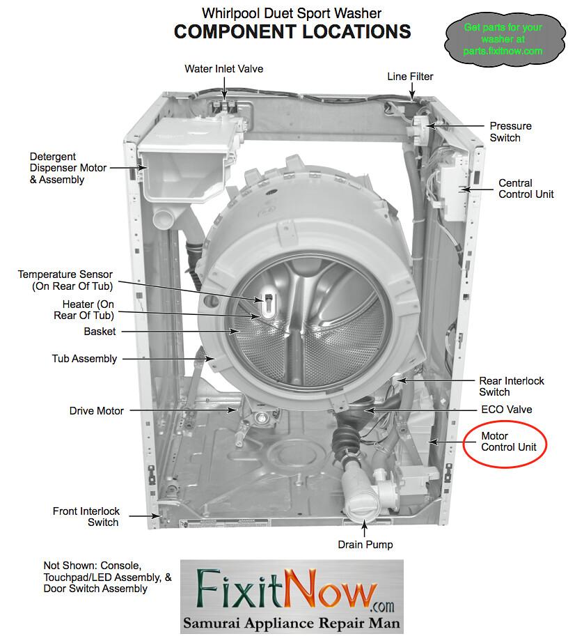 whirlpool washing machine diagram