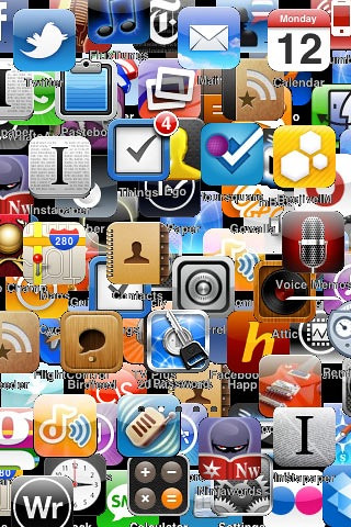 Don T Touch My Phone Wallpaper Cute Clutter Wallpaper For Iphone 4 Cluttered Icon Wallpaper
