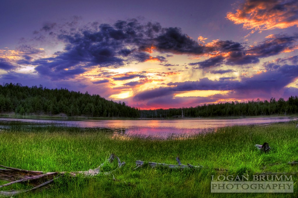 Morning 3d Wallpaper Scholz Lake Sunset Flagstaff Arizona Hdr Hdr Iso 100