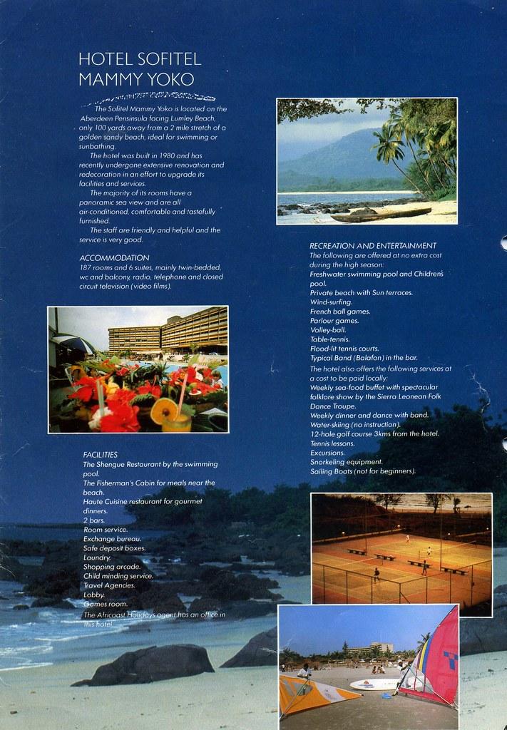 Sierra Leone Tourist Brochure 1980s Africoast Holidays H\u2026 Flickr