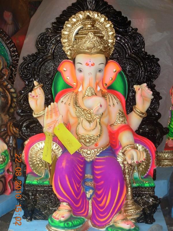 Whatsapp 3d Wallpaper Download Ganesh 2010 Preparations Ganesh Idols Prepared At