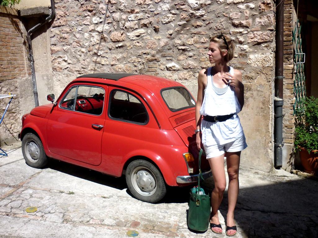 3d Roof Wallpaper Vintage Fiat 500 Red Www Hollygeekwood Com Flickr