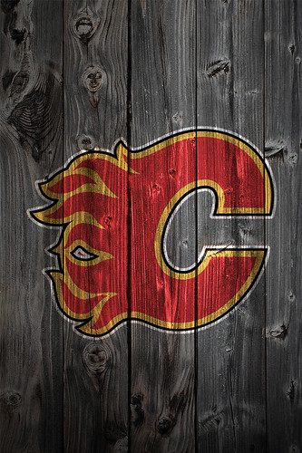 Calgary flames wood iphone 4 background kristopher legg