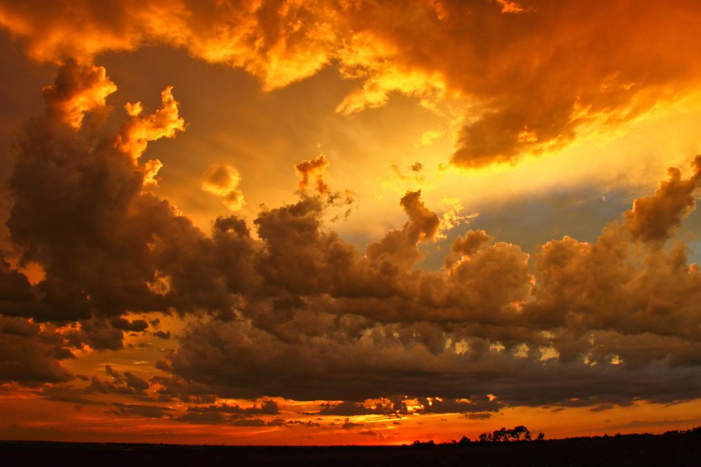 Thunderstorm Wallpaper 3d Oklahoma Sunset After Thunderstorm Kingfisher County