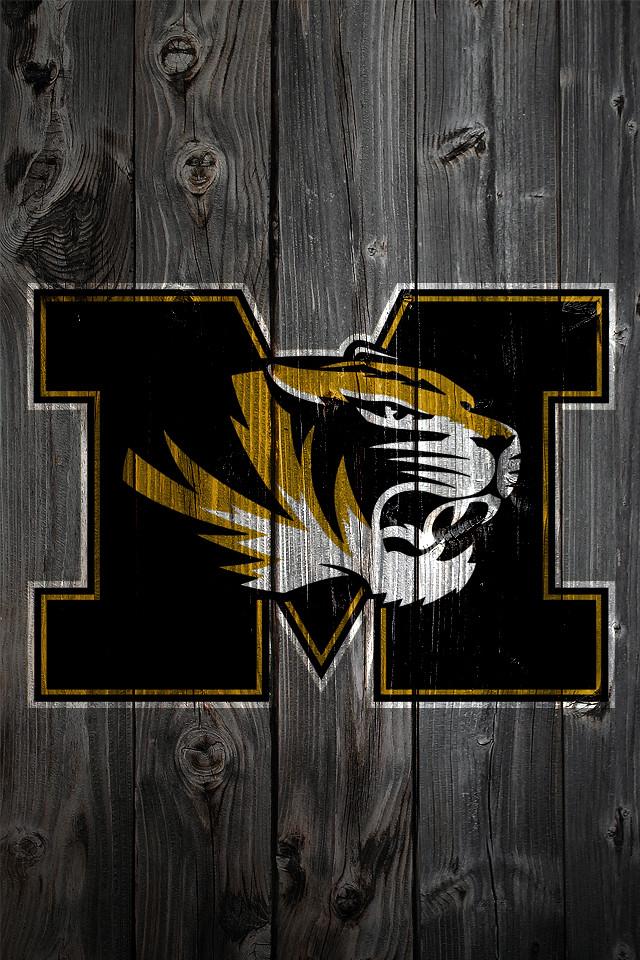 Raiders Logo Wallpaper Iphone Missouri Tigers Wood Iphone 4 Background Missouri Tigers