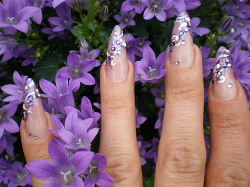 Nail Art French Gel Flieder Nicole Flickr