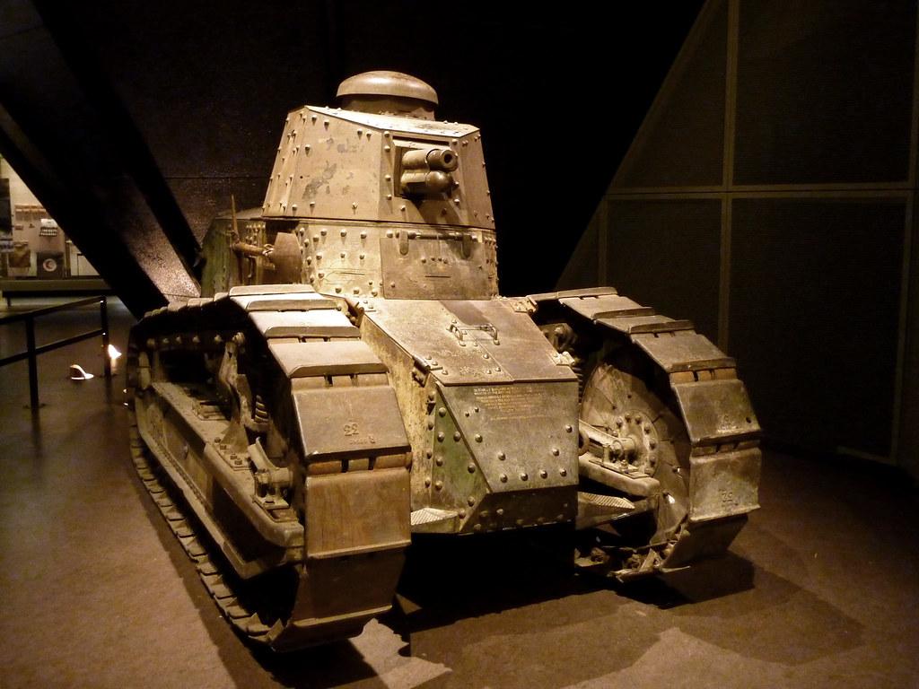 Gun Wallpaper 3d Renault Ft17 Tank At National World War I Museum With A