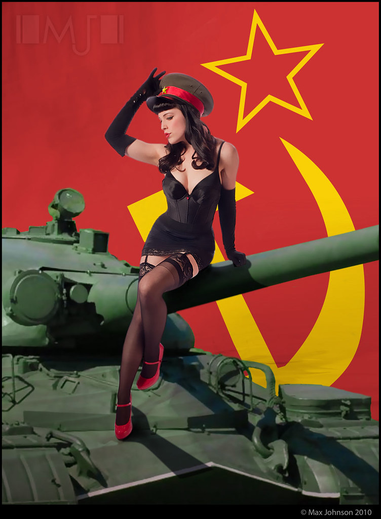 Cute Cartoon Girl Hd Wallpapers Red Scare Soviet Pinup In Soviet Russia Pin Up Made Of