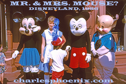 Disney Mickey Minnie And Disneyland, 1956: Slide From Charles Phoneix | Charles
