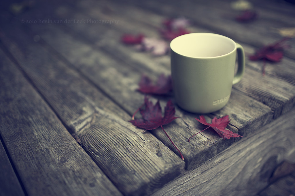 3d Fall Desktop Wallpaper Coffee In The Fall Bracing Breeze Flannel Shirt Hot