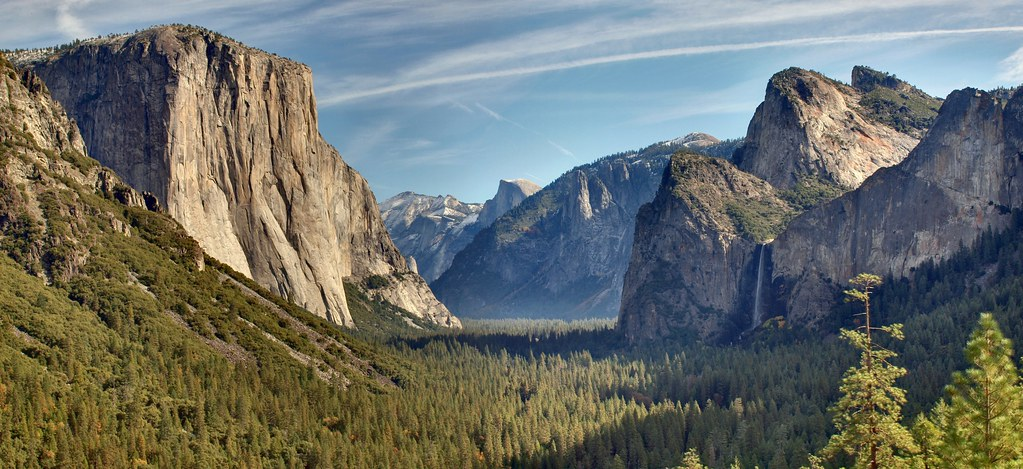 National Geographic Fall Wallpaper Tunnel View Panorama Panoramic Hdr Of Yosemite Valley