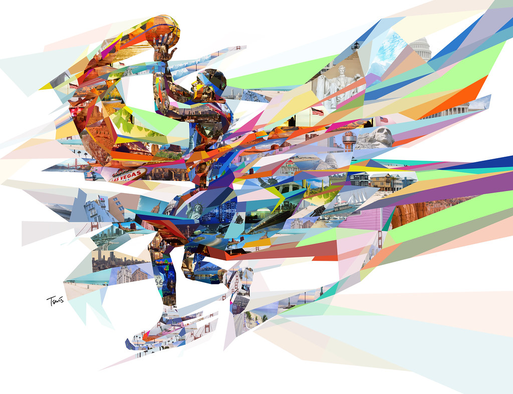3d Art Mobile Wallpaper The Colors Of Basketball 7 Another American Mosaic