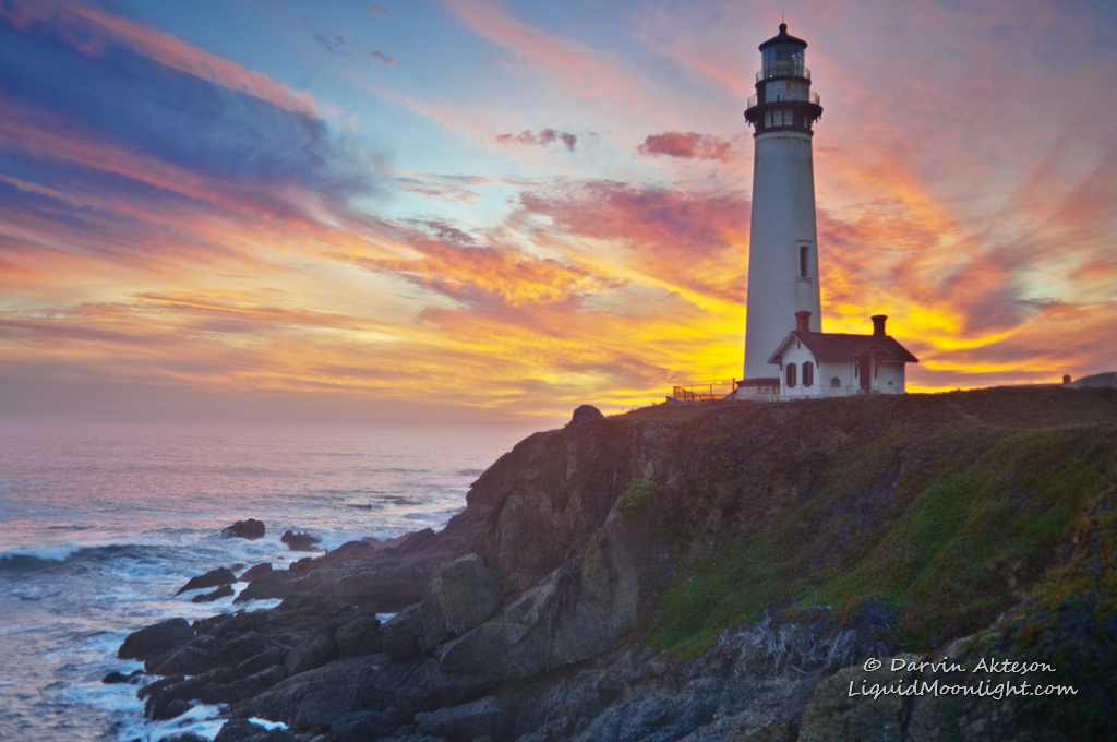Majestic Fall Wallpaper California Dreaming Sunset At Pigeon Point Lighthouse 13