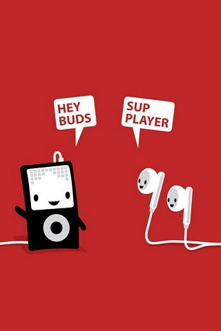 Cute White Wallpaper Iphone Hey Buds Sup Player Iphone Amp Ipod Touch Wallpaper