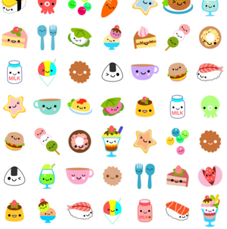 Cute White Dogs Wallpapers Yummy Foods Spoonflower Kawaii Contest Entry Here S My