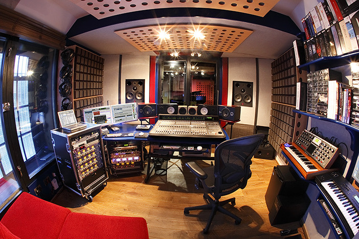 3d House Wallpaper Room Recording Studio Control Room Fisheye Small Check Out