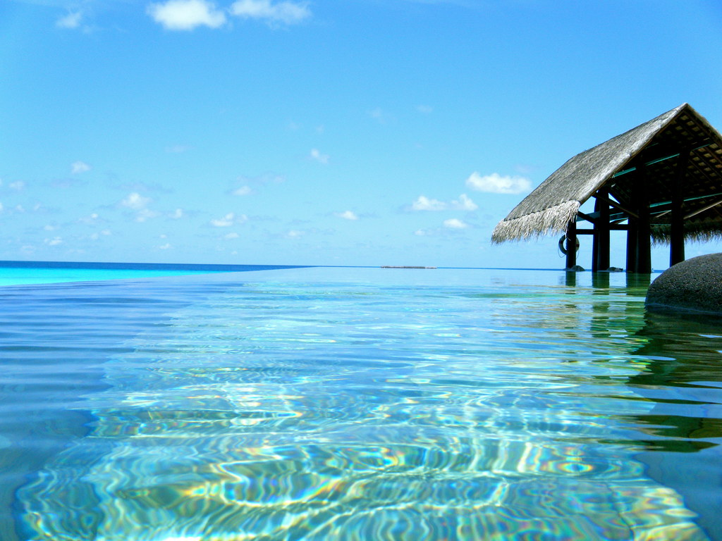 New 3d Wallpaper Infinity Pool The One Amp Only Resort Reethi Rah Maldives