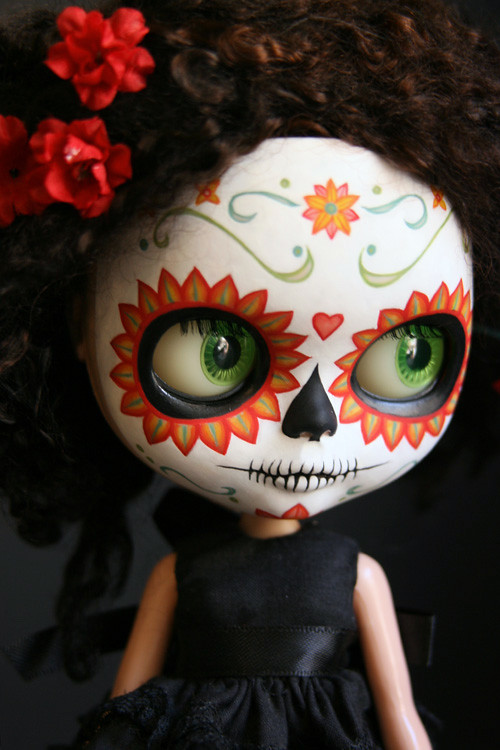 Barbie Doll 3d Wallpaper Blythe Calavera 006 Kat Caro Flickr