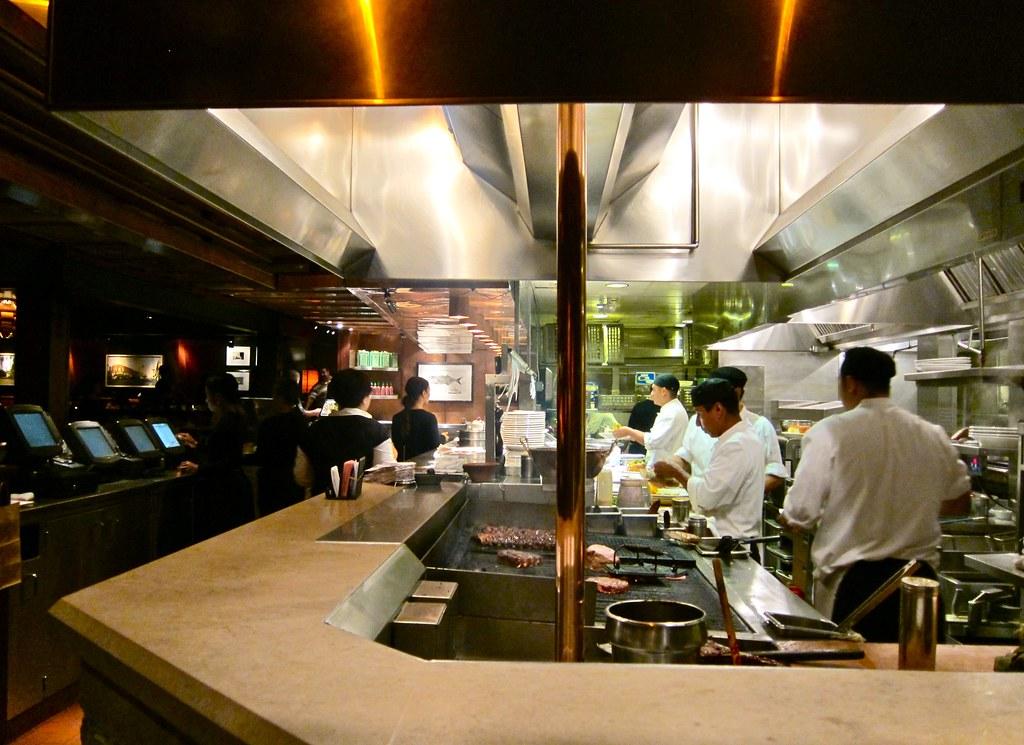 Open Restaurant Kitchen Designs restaurant kitchen layout 3d