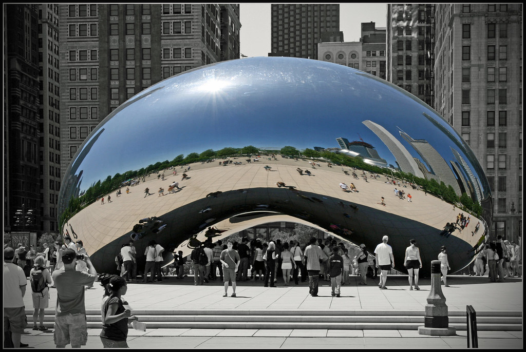 Design Wallpaper 3d Cloud Gate Chicago Explore Highest Position On Explore