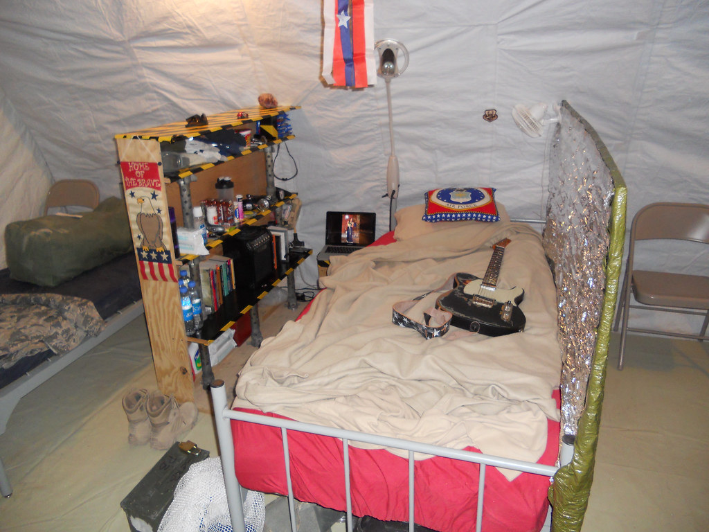 Tent Bed New Afghanistan Fob Tent - After | The Green Box At The