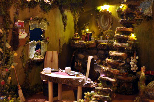 3d Door Wallpaper Fairy House Interior At Night Our New Fairy House Is