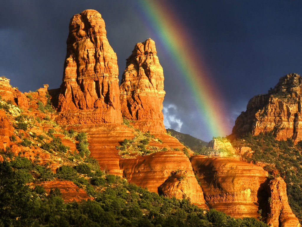 Create Animated Wallpaper Rainbow Over Sedona Took This Photo During My Visit To