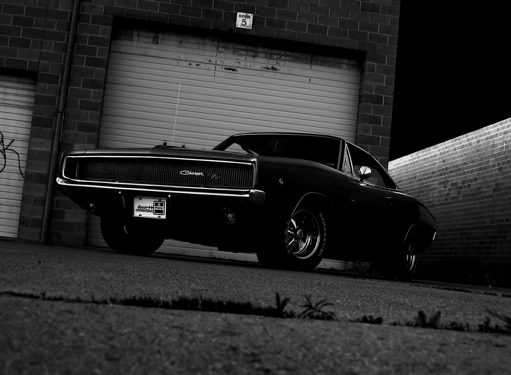Black Car Lights Wallpaper 1968 Dodge Charger R T Black Amp White Bullitt Paying