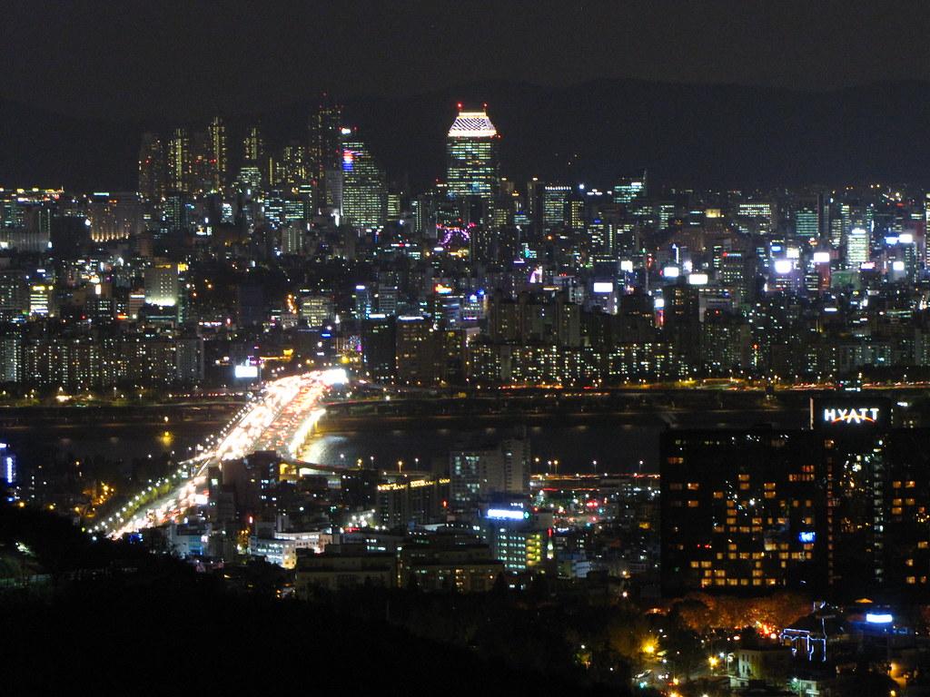 Wallpaper Korea 3d Seoul At Night Namsan Tower South Korea Seoul At Night