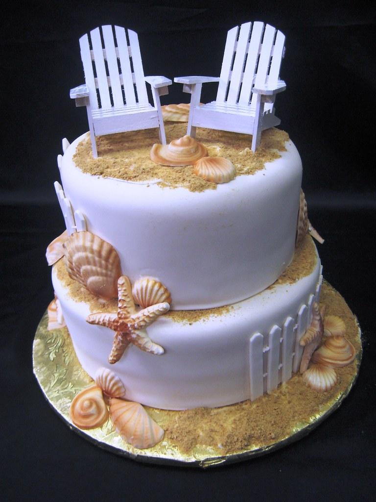 Beach White Wedding Cake 3sisterschocolatebakery White