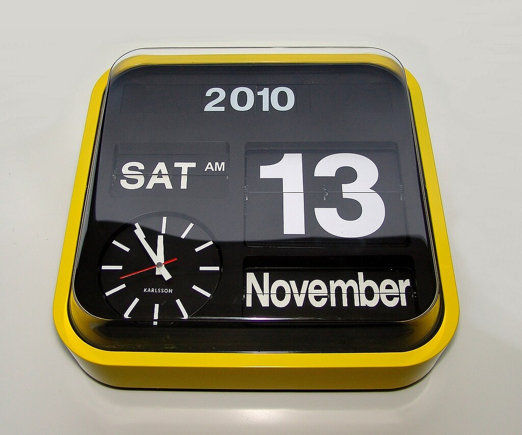 Big Flip Clock Yellow Karlsson Big Flip Clock 1200 Yellow Fever I