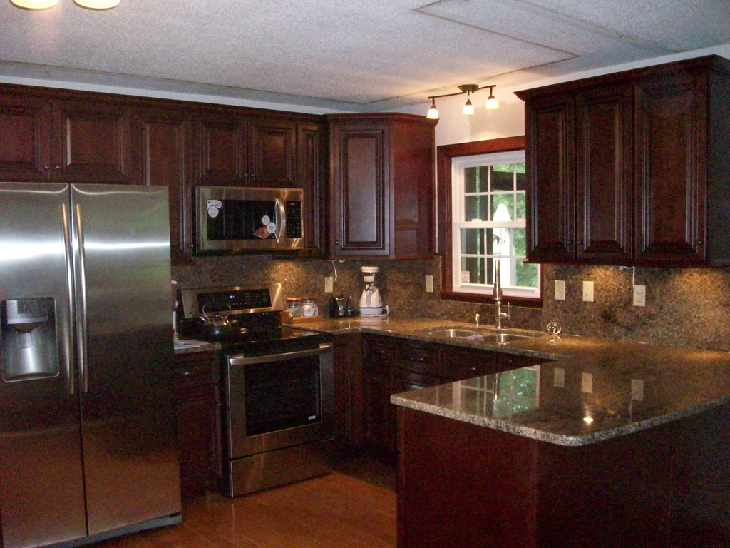 Dark Countertops With Dark Cabinets American Kitchen Corporation Strasbourg Kitchen American
