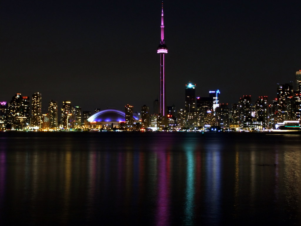 3d Pictures Live Wallpaper Fuji 70exr Toronto Night Skydome Amp Cn Tower Toronto
