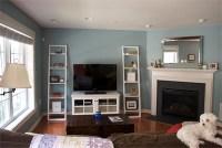 family-room-upgrade-tv-stand-bookshelves | We got the ...