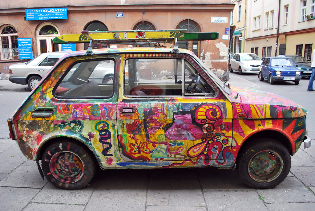 New Car Wallpaper 3d Fiat 126 Painted Fiat 126 Maluch In Polish Seen In