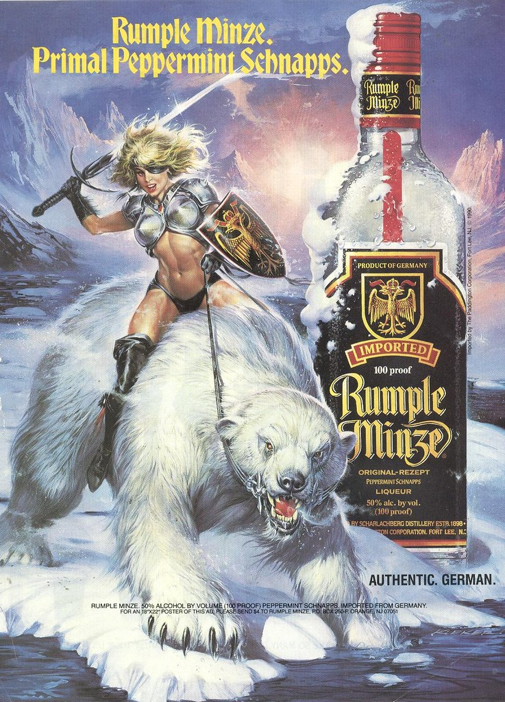 Girl Riding Horse Wallpaper This 1993 Ad For Rumple Minze Liqueur Is Awesome This Is