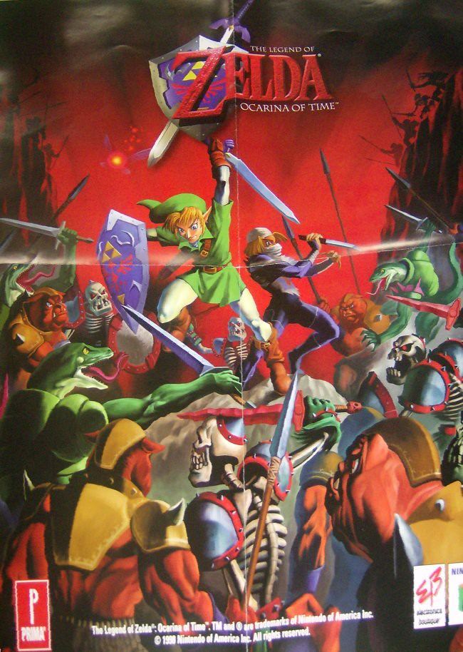 Ocarina Of Time 3d Wallpaper Eb Games Prima Legend Of Zelda Ocarina Of Time Promo Poste