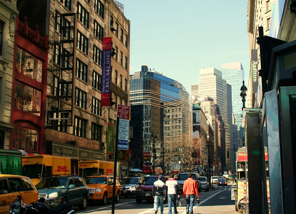 The Best 3d Wallpapers In The World Manhattan Street Scene Love The Different Architectural